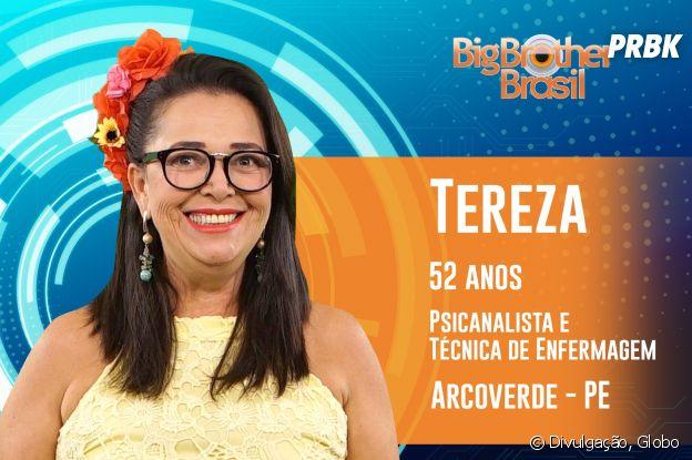 """Do """"BBB19"""", conheça Tereza, de 52 anos"""