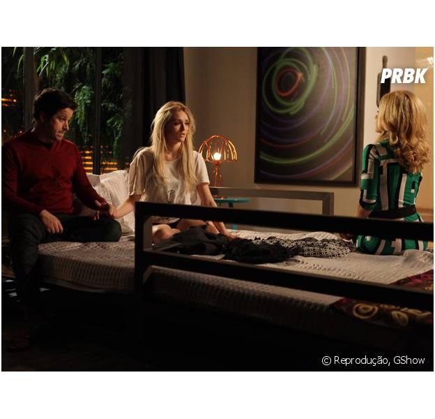 Megan conversa com Jonas e Pamela e tenta reaproximar o ex-casal