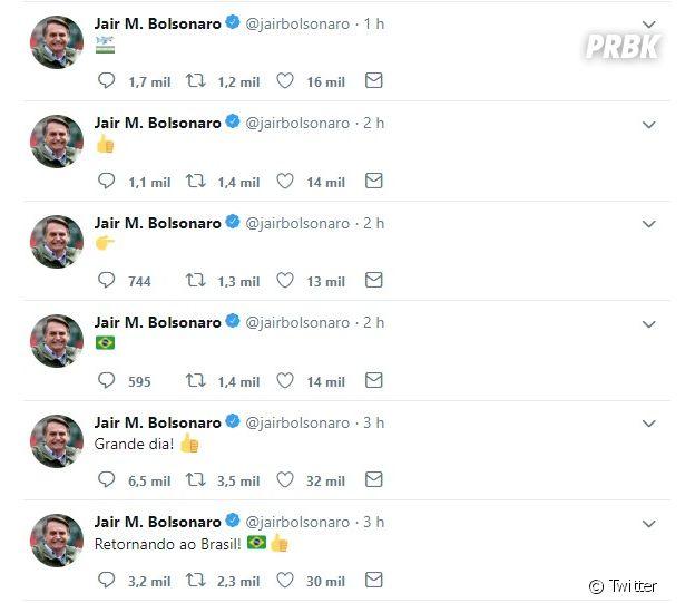 Aparentemente, Jair Bolsonaro e Flávio Bolsonaro comentaram sobre a saída de Jean Wyllys do país