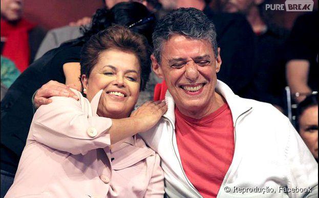 Recentemente, Chico Buarque anunciou oficialmente seu apoio a Dilma Rousseff nas eleições para presidente
