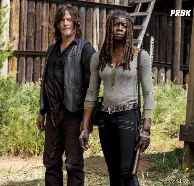 """Na 10ª temporada de """"The Walking Dead"""": as coisas vão mudar para Daryl (Norman Reedus) e Michonne (Danai Gurira)"""