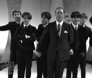 """BTS arrasa com apresentação de """"Boy With Luv"""" no """"The Late Show With Stephen Colbert"""""""