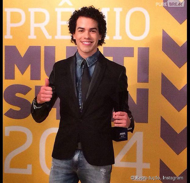"""Sam Alves vence a categoria """"Experimente"""" do Prêmio Multishow: """"Uma honra!"""""""