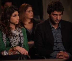 """Em """"Geração Brasil"""", Davi (Humberto Carrão) sofre por causa de uma notícia tensa depois de reatar com Manu (Chandelly Braz)"""