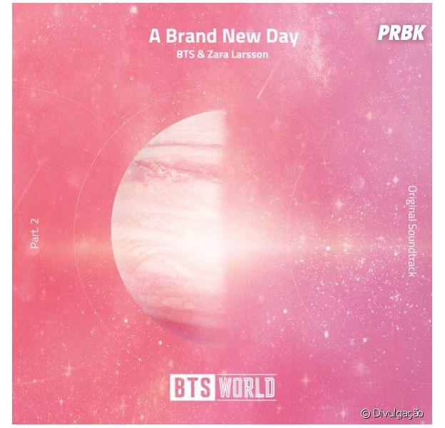 """J-Hope e V se unem a Zara Larsson para a música """"A Brand New Day"""", da trilha sonora do jogo BTS World"""