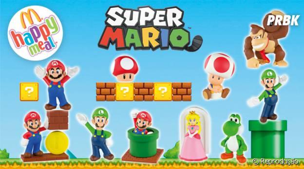 """Mc Donald's vai distribuir brindes de """"Super Mario"""" junto com MC Lanche Feliz em novembro"""