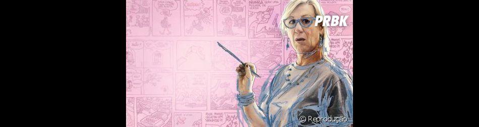 """O documentário """"Laerte-se"""" conta a vida da cartunista Laerte e sua trajetória de aceitação como mulher"""