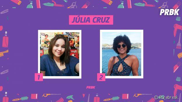 Júlia Cruz, estudante de Psicologia, conta sua históira de transição capilar