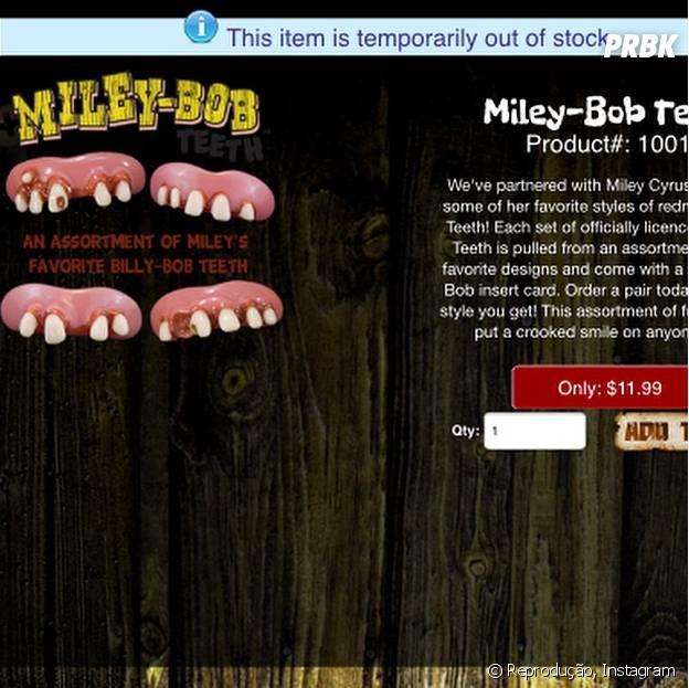 Miley Cyrus lança linha exclusiva de dentes falsos e comemora boas vendas no Instagram