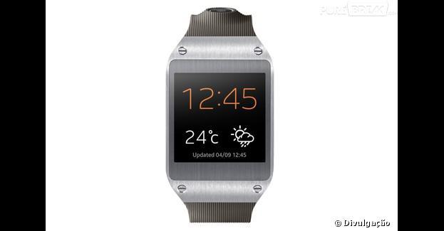 O Galaxy Gear é um relógio inteligente da Samsung