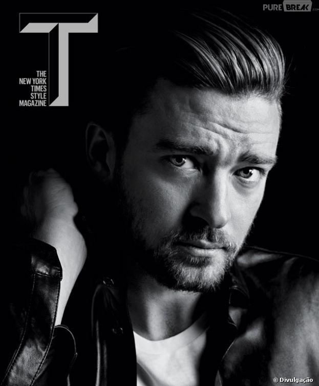 O astro do pop Justin Timberlake é a capa da revista norte-americana 'T New York Times Style' e mostrou toda a sua sensualidade