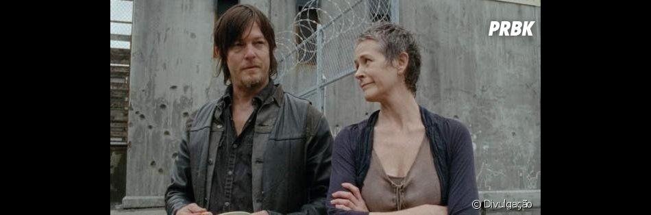 """The Walking Dead"": Carol (Melissa McBride) sugere que ela e Daryl (Norman Reedus) fujam de moto"