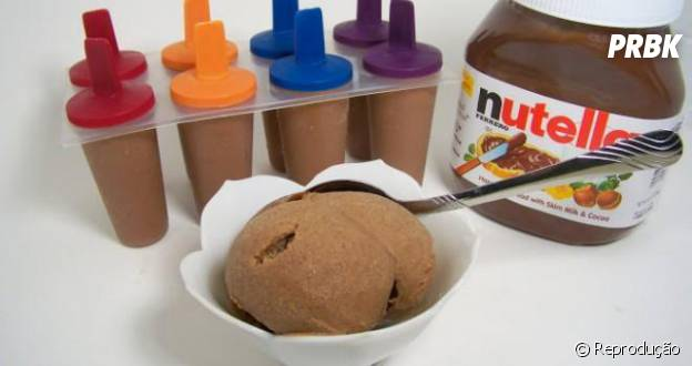 Picolés de Nutella são fáceis de fazer e ficam uma delícia!