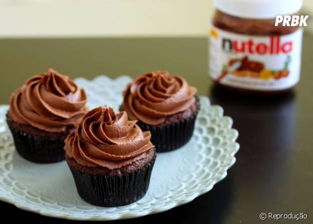 O Cupcake de Nutella é uma ótima pedida para juntar a família na cozinha