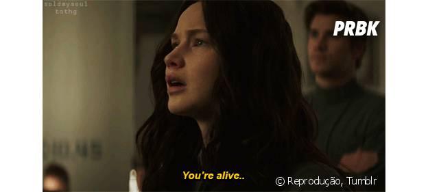 """Katniss Everdeen: """"Você está vivo."""""""