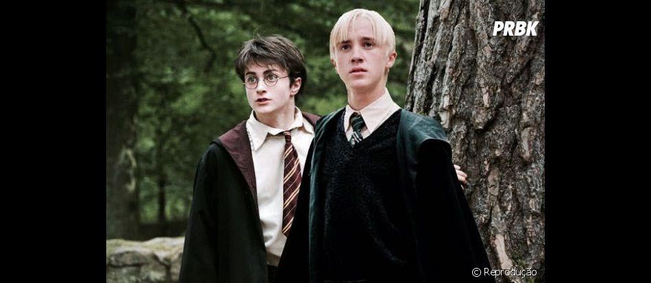 """Tom Felton, de """"Harry Potter"""", não consegue tirar Sonserina no teste das casas de Hogwarts"""