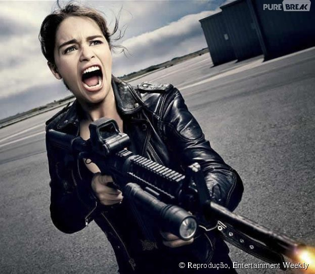 Emilia Clarke aparece incrível no papel de Sarah Connor
