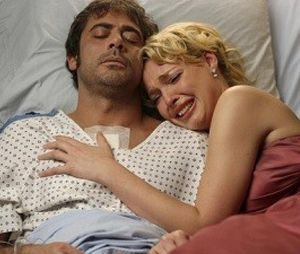 """O arco de Izzie (Katherine Heigl) e Denny (Jeffrey Dean Morgan) foi um dos mais tristes de """"Grey's Anatomy"""""""