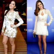 Anitta ou Marina Ruy Barbosa? Qual estrela arrasou no vestidinho branco essa semana? #DueloDeLooks