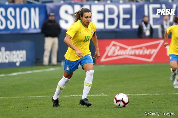 """Nas Olimpíadas, Marta continua participando da campanha """"Go Equal"""""""